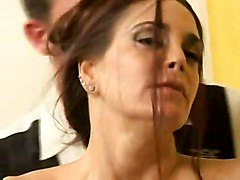 cumshot fucking hardcore milf brunette mature bigtits bigboobs cocksucking dicksucking pussyfucking pornstars couple couch olderwoman cougar hunter cumfacial