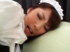 Asian Japanese Japan Asians solo orgasm cum masturbation masturbate maid costume fetish outfist cosplay