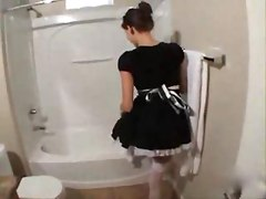 maid bathroom reality blowjob panties hardcore