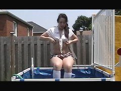 Schoolgirl Water Dunk