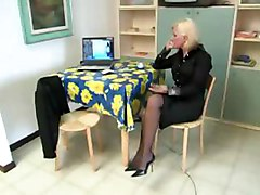 shadow italian milf mature blonde stockings lingerie amateur hardcore sex blowjob cumshot facial oralsex