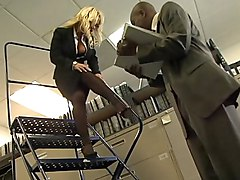 sex  office  at work  secretary  interracial  big tits  beautiful tits  big cock  black cock  blonde  pornstar  pantyhose  tease  glasses  upskirt  blowjob  lick  undress  feet Shyla Stylez