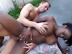 interracial deepthroat face fuck gagging handjob blowjob tittyfuck ebony big tits outdoor riding cumshot