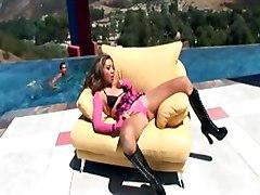 skinny Keanni Lei boots gloves smalltit bra analsex asian longhair petite