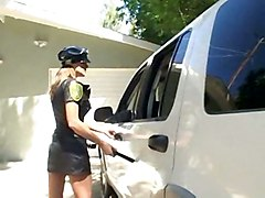 cumshot interracial blowjob doggystyle cop police officer