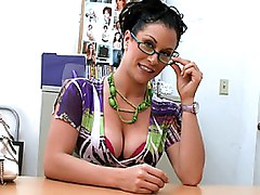 backroom milf  interview  beautiful ass  in clothes  office  office sex  cute  babe  sexy  big tits  white  glasses  from behind  penetration  quality  lights  colors  cock ride  brunette  stylish Gianna Lace
