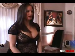 mom big tits reality tease brunette