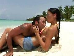 outdoor beach bikini tight brunette pussylicking riding blowjob ass licking anal hardcore ass to mouth facial cumshot latina