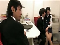 Asian Office Lady Cosplay Hardcore Cum BJ HJ Asian