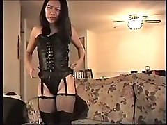 asian fucking babe leather cumming