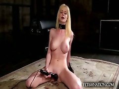 naked girl sex toy doggy pose boobs solo girl