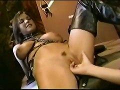 leather busty groupsex leash slave weird