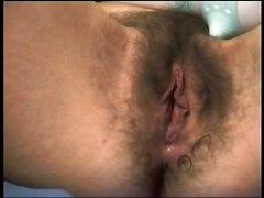 Hairy Orgasm Wet Pussy Dildo MasturbationHairy