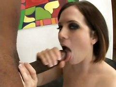small tits handjob blowjob brunette cumshot facial