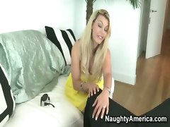naughty america blonde housewife pov big tits