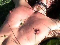 Nettle Torture BDSM pain skinny smalltits maso sado fetish
