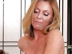 stockings hardcore blonde milf blowjob fingering bigtits pussylicking table highheels pussyfucking office benover