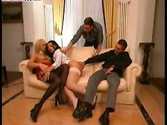 shemale group sex blowjob milf stockings