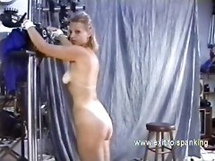 spanking beating spank trashing flogging bdsm tiedup bondage humiliation blonde slave slavegirl sado pain submission