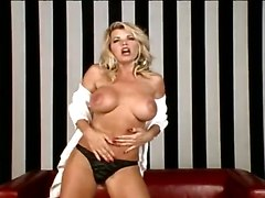 big tits dildo striptease solo