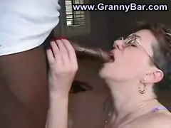 hardcore interracial blowjob glasses pussyfucking granny