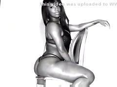 black oiled ebony solo blackwoman teasing bigass softcore