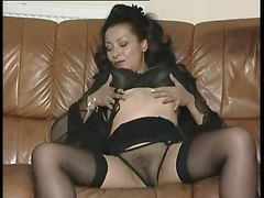 mature milf mom brunette retro couch lingerie stockings fishnet big tits natural rubbing dancing vintage solo softcore pussy panties striptease masturbation masturbation masturbation