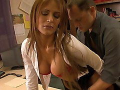 big ass  long hair  big tits  beautiful tits  tanned  desk  office  office sex  on side  in clothes  blowjob  clothes off  lick  panties off  moan Monique Fuentes  Alec Knight