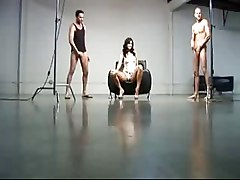 Brunettes Group Sex Handjobs