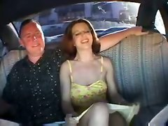 outdoor public couple cab sex cum amateur homemade wife girlfriend brunette milf tattoo handjob blowjob riding doggystyle cumshot car