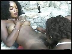 ebony lesbians dildo outdoor piercing