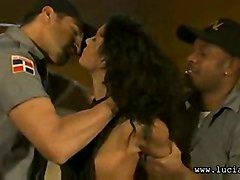 black fucking threesome lucy hair patrol police belle lucia officer trouble border