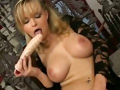 dildo solo pussy ass tits