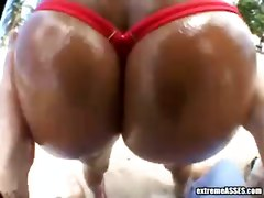 ass big ass panties oil beach outdoor pov doggystyle cumshot