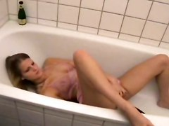 blonde shaved masturbation solo insertion
