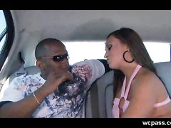 Car Sex With An Ebony Stranger