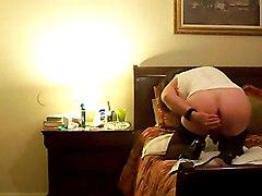 amateur crossdresser solo dildo sex toy stockings