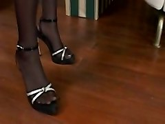 stockings ass anal footjob fetish euro cumshot babe