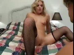 blonde tight stockings fishnet pussylicking blowjob hardcore squirting fetish wet orgasm riding doggystyle squirt