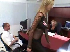 pornstar tight teasing reality blonde fishnet big tits stockings lingerie office voyeur tattoo panties pussy rubbing 69 blowjob deepthroat hardcore riding doggystyle cumshot ass natural