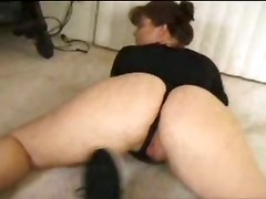 ass chubby bbw milf panties teasing big ass brunette lingerie big tits anal doggystyle cumshot facial