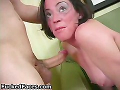 gagging facefuck deepthroat oral amateur tits