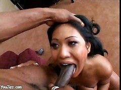 huge nimble ebony cock shove deeper slut