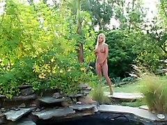 Blonde Sex In Garden