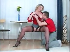 milf big boobs babe stockings oral cum shot facial