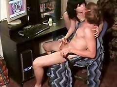 Brother gets handjob