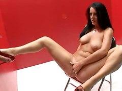 Big Dick In Glory Hole For Brunette Pleasure