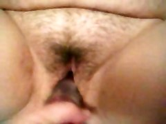 dildo BBW fingering hairy pussy sex toy