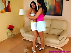 lesbian babes lick pussy pornstars dykes brunette babe