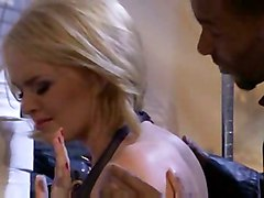 stockings cumshot hardcore blonde interracial blowjob shaved bigtits pussyfucking